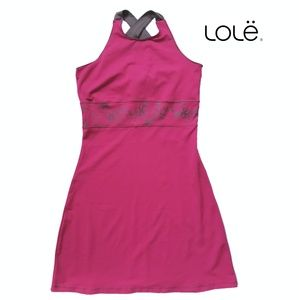 LOLЁ Athletic dress in raspberry